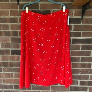 NWT Nordstrom Abound Heart printed midi skirt